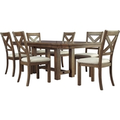 Moriville 7pc Dining Room Set: Table, 6 Chairs