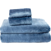 Super Soft Plush Sheet Set - Queen - Navy