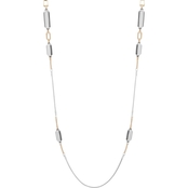 Nine West Tri Tone Necklace 42 in.