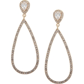 Anne Klein Goldtone Crystal Teardrop Earrings