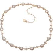 Anne Klein Goldtone Crystal Teardrop Collar Necklace