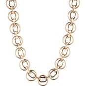 Anne Klein Goldtone Octagon Circle Collar Necklace
