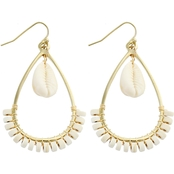 Panacea Pukka Shell Howlite Teardrop Earrings