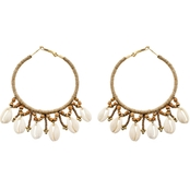 Panacea Puka Shell Wrapped Hoop Earrings