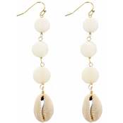 Panacea Puka Shell Linear Drop Earrings