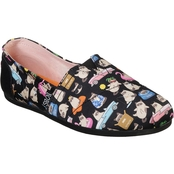 BOBS from Skechers Women's Plush Grumpy Cat Vacay Slip On Shoes