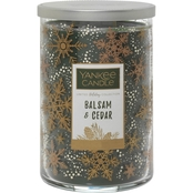 Yankee Candle Merry & Bright Balsam & Cedar Large 2-Wick Square Candle
