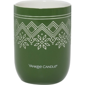 Yankee Candle Nordic Frost Balsam and Cedar Ceramic Candle