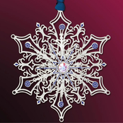ChemArt Glittering Silver Snowflake Holiday Ornament