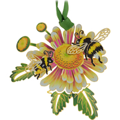 ChemArt Bumble Bees Nature Designed Ornament