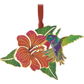 ChemArt Hummingbird Flower Nature Designed Ornament