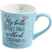 Gibson Home My Bells Don't Jingle Without Coffee Gleeful Mug
