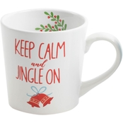 Gibson Home Gleeful Keep Calm and Jingle On Mug