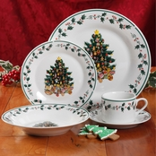 Gibson Home Tree Trimming Dinnerware 20 pc. Set