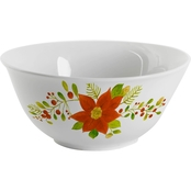 Gibson Home Poinsettia 10 in. Serving Bowl