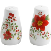 Gibson Home Poinsettia Salt and Pepper Shakers
