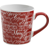 Gleeful Merry Joy Mug Red