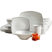 Gibson Home Zen Platinum 16 pc. Dinnerware Set