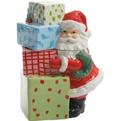 Gibson Home 10 in. Jolly Santa Cookie Jar