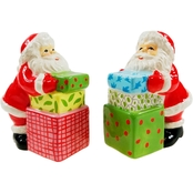 Gibson Home Jolly Santa Salt and Pepper Shaker Set