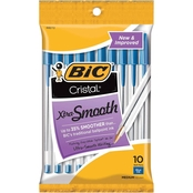 BIC Cristal Xtra Smooth Medium Point (1.0mm) 10 Pk. Pouch