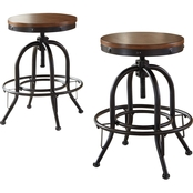 Signature Design by Ashley Valebeck Metal Swivel Counter Stool 2 pk.