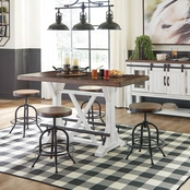 Signature Design by Ashley Valebeck 5 pc. Counter Dining Set with Metal Stools
