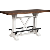 Signature Design by Ashley Valebeck Rectangular Dining Room Counter Table