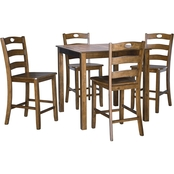 Signature Design by Ashley Hazleteen 5 pc. Counter Dining Set