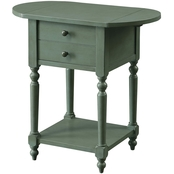 Beadle Antique Gray Side Table
