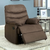 Furniture of America Pleasant Valley Bonded Leather Match Recliner