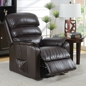 Furniture of America Filip Leatherette Power Recliner
