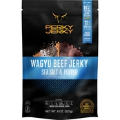 Perky Jerky Wagyu Beef, Sea Salt and Pepper Jerky 8 oz.