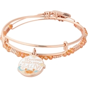 Alex and Ani Color Infusion, The Ocean Made Me Salty Set of 2 Charm Bangles