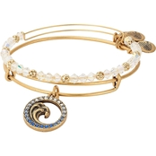 Alex and Ani Crystal Wave Set of 2 Charm Bangles