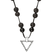 Alex and Ani Men's Beaded Triangle Necklace 34 in.