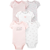 Carter's Infant Girls Floral Original Bodysuits 5 pk.