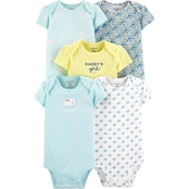 Carter's Infant Girls Elephant Original Bodysuits 5 pk.