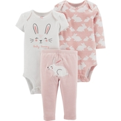 Carter's Infant Girls Bunny Little Character 3 pc. Set