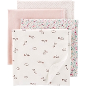 Carter's Infant Girls Receiving Blanket 4 pc. Set