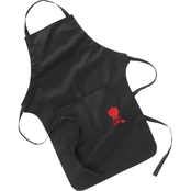 Weber Apron Black with Red Kettle