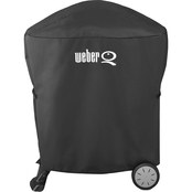 Weber Grill Cover for Q 100/1000/200/2000 with Rolling Cart