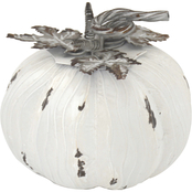 Simply Perfect Large White Metal Pumpkin