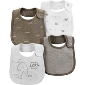 Carter's 4-Pack Elephant Teething Bibs
