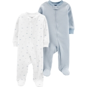 Carter's Infant Boys Zip Up Cotton Sleep and Play 2 pk.
