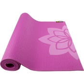 GoFit Pattern Yoga Mat with Yoga Pose Wall Chart