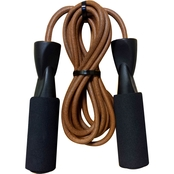 GoFit 9 ft. Leather Jump Rope with Foam Padded Handles