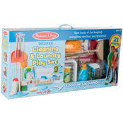 Melissa & Doug Deluxe Cleaning and Laundry Play Set
