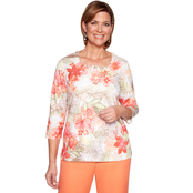 Alfred Dunner Etched Tropical Top