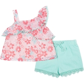 Little Lass Infant Girls 2 pc. Ruffle Shorts Set